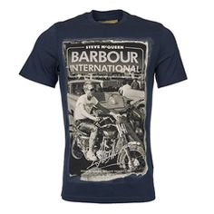 New for 2016 Barbour International Mojave T-Shirt - Navy