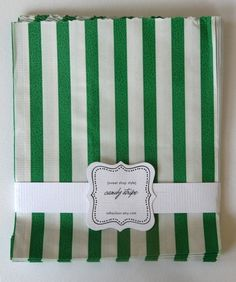stripe candy bags