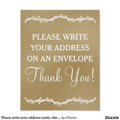 Write your address sign address an envelope printable envelope please write your address on an envelope rustic chic faux shabby linen cloth wedding sign altavistaventures Gallery