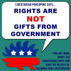 I hope the porcupine isn't the official mascot of the Libertarian Party! I really like what he says, but I kinda want to keep my distance.