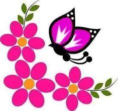 Fabric Paint Designs, Stencil Designs, Frame Border Design, Page Decoration, One Stroke Painting, Flower Doodles, Paper Frames, Flower Images, Garden Art