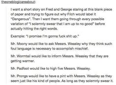 the marauders & the Weasley twins