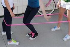 Chinese Jump Rope!  Ok seriously, who doesn't remember playing this???