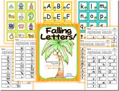 {FREEBIE} Falling Letters!: Matching activities to go with Chicka Chicka Boom Boom