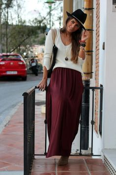 Tricks Or Treat Burgundy Maxi Skirt | Burgundy maxi skirts