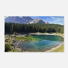 Carezza's Lake And Mount Latemar 3'x5' Area Rug for