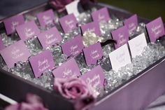 Loved this combination of placecards and crystals