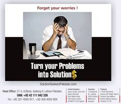 Turn your Problems into Solutions $  Specialized #B2B and #B2C #Collection #Services Provider #UAE #UK #London #Pakistan  General Attorneys for Property Disputes, Debt Recoveries and Legalization of Documents for International Business Partners, Banks, Businessmen, NGOs, Govt. Departments, Individuals, Overseas Pakistanis, Foreign Nationals & Corporations.  For Queries: Tel: +92 321 4000911, UAN: +92 42 111 042 326 info@solutionseekerspakistan.com www.solutionseekerspakistan.com #Debt #USA