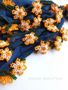 画像1: ナムルン|ヴィンテージ|ボンジュックオヤ:ミッドナイトブルー×オレンジ
