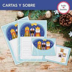 Reyes Magos: papeles de carta y sobre Ideas Geniales, Filing Cabinets, Writing Letters, Wizards, Paper Envelopes