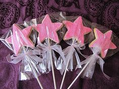 Tinkerbell Party - magic wand cookies use green
