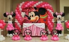 Minnie arch,centerpieces,  characters