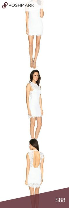 Free People Daydream Bodycon Slip Dress~White Brand New with Tag Free People Daydream Bodycon Slip Dress in White. Sultry slip dress boasts a lightweight cotton blend. Allover lace detail. High neckline. Sleeveless design with scalloped eyelash trim. Stacked button closure at nape. Open-back design. Straight hemline. 60% cotton, 40% nylon. Hand wash and hang dry. Imported. No Trades! Price Firm! Free People Dresses Mini