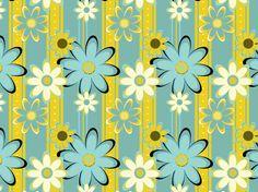 """""""Pie Garden"""" by DarkStar floral teal gold white yellow blue"""
