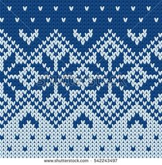 Knitted sweater jacquard pattern. Cartoon illustration
