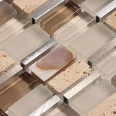 Ocean Mosaics Tiles & Accessories - Glass mixed with mother of pearl, metal and stone | Ole Crema