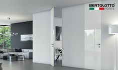 Flush doors in full-height: Walldoor Massima by Bertolotto