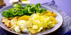 Witloofsalade met geitenkaas en sinaasappel