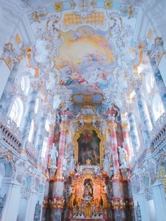 Baroque Architecture, Beautiful Architecture, Beautiful Buildings, Beautiful Places, Cute Wallpapers, Wallpaper Backgrounds, Iphone Wallpaper, Angel Aesthetic, Blue Aesthetic