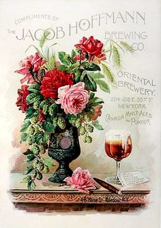 Victorian ad with roses, another great country living wall decor idea... Do you ever lurk about flea markets looking for these old adverts to buy and frame? It's a great way to spend a lazy Sunday.