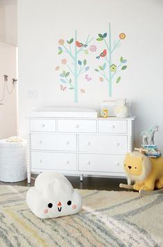 Tree decals with simple dresser