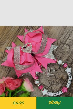 Personalised stunning pram charm in hot pink for baby girls and boys other colou