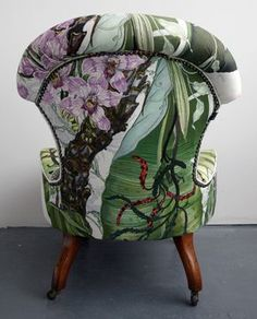 Noted for surreal and provocative textiles and wallpapers, the design studio, Timorous Beasties, was founded in Glasgow in Funky Furniture, Classic Furniture, Unique Furniture, Furniture Decor, Painted Furniture, Furniture Design, Furniture Buyers, Furniture Removal, Furniture Vintage