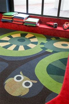 #Interface carpet tiles, #colour used to create a #fun teenage space