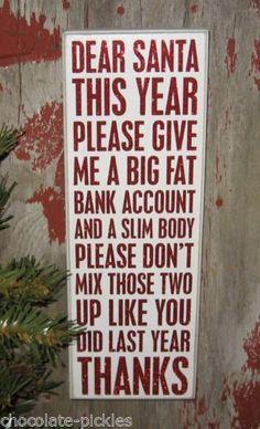 #CHRISTMAS Wood Box Sign*Primitive Decor*Santa Humor*Best Friend Holiday Gift!