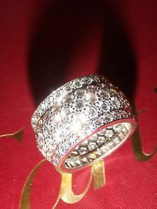 Cartier Jewelry - IMPECCABLE STUNNING CARTIER NIGERIA 18K WHITE GOLD DIAMOND RING SIZE 50/US 5.25 Click Here to see more - http://www.diamondsandgemstones.net/cartier-jewelry/