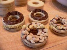 Nugátové kroužky Nutella, Napkin Rings, Napkins, Towels, Dinner Napkins, Napkin Holders