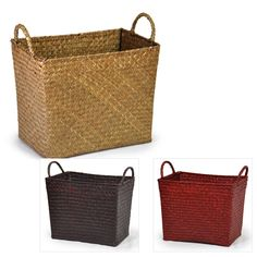 Alexa Woven Sea Grass Utility with Handles 11in
