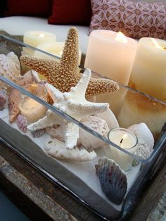 fun centerpiece to make at the beach house @Lori Bearden Bearden Bearden Bearden Szczygiel you could make this!!