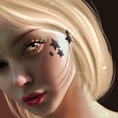 Arte Digital Fantasy, Digital Art Anime, Digital Art Girl, Digital Portrait, Portrait Art, Fantasy Art, Pretty Art, Cute Art, Cartoon Art Styles