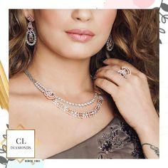 Good morning people!  Make your day sparkle as bright as our diamonds.  Follow, like @CLDiamonds @tanikachawla4294 @jassahotamakeovers . . . . . . . . . . . #cldiamonds #diamondsetting, #diamondsetter, #diamondset, #diamondsets, #diamondsetsonline, #diamondsetsonsale, #designerset, #designernecklace, #designersets,  #designerdiamondjewellery, #DiamondChoker,  #diamondchokers #diamondchokernecklace, #diamondchokersets, #chokersets, #bridalchoker, #bridalchokerset… Polki Sets, Good Morning People, Diamond Choker Necklace, Diamond Settings, Necklace Designs, Sparkle, Chokers, Bright, Instagram