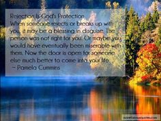 Pamela Cummins Quotes: Rejection is gods protection when