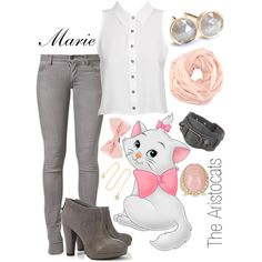"""""""Marie Inspired (The Aristocats)""""  by koolkid4ever on Polyvore http://jessiicontreras.polyvore.com"""