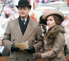 """Colin Firth y Helena Bonham Carter en """"El discurso del rey"""", 2010"""