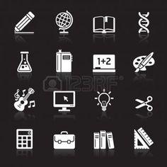 éducation nationale: Education Icons set 1 icônes Illustration Vecteur Plus dans mon portefeuille