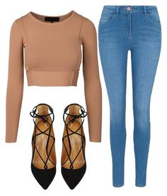 """""""simplicity"""" by unusualx on Polyvore featuring Aquazzura and George"""