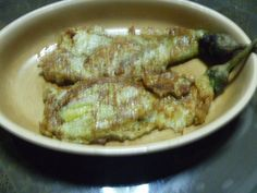 One favorite food of Filipinos... eggplant omelet..