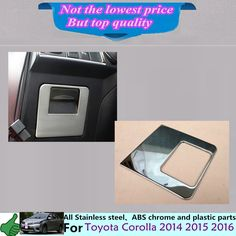 For Toyota Corolla Altis 2014 2015 2016 car cover trim handle stainless steel Glove Co-Driver Container switch Storage case box Corolla Altis, 2016 Cars, All Stainless Steel, Car Covers, Toyota Corolla, Interior Accessories, Glove, Chrome, Abs