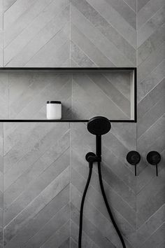 dark gray tile and b