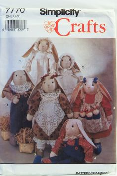 Simplicity 7770 Bunny with Clothes