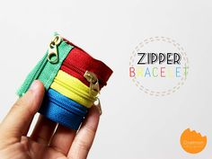 DIY Tutorial: Zipper Bracelet | Learn how to make this colorful zipper bracelet to brighten up your summer outfit! @onelmon