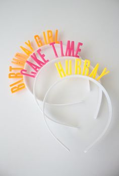 ADVENTURES IN FASHION: {DIY} Birthday Headbands - way cuter than a crown! could also use for a bachelorette party!