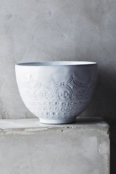 Anthropologie Etched Geo Bowl
