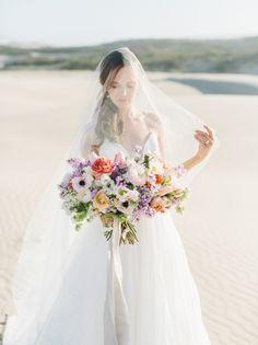 Dreamy pastel bouquet: http://www.stylemepretty.com/2016/05/12/sand-dunes-wedding-inspiration/ | Photography: Tenth & Grace - http://www.tenthandgrace.com/