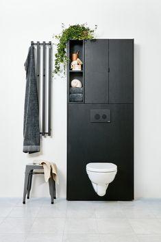 bathroom  furniture  badrum  möbler  toalet  WC  toilet  black  svart   wood  trä  oak  ek 11a5e3bdd0