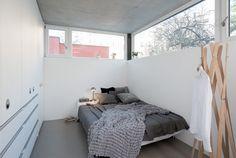 bedroom with corner sofa Corner Sofa, Toddler Bed, Interior Design, Bedroom, Prague, House, Furniture, Interiors, Studio